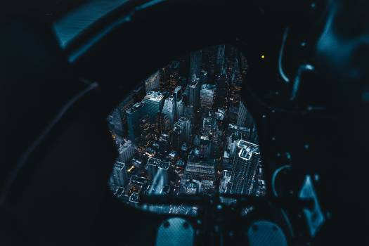 Black Cockpit Night Free Photo