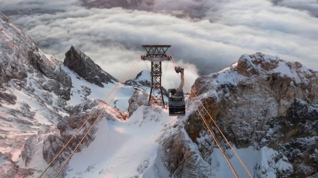 Ski tow Snow T-bar lift #304972