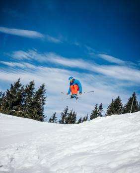 Snow Slope Snowmobile Free Photo