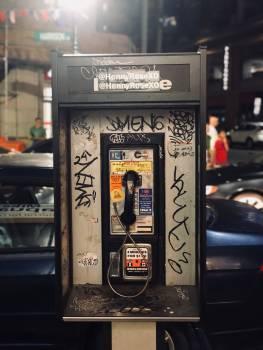 Pay-phone Telephone Electronic equipment Free Photo