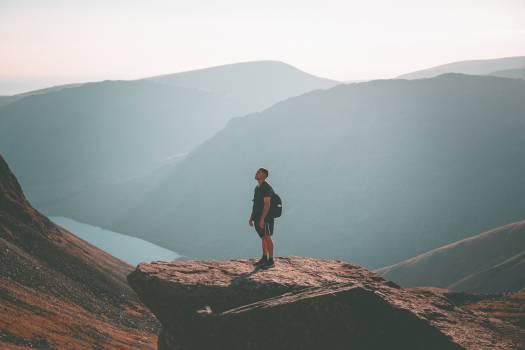 Mountain Line Hiking Free Photo