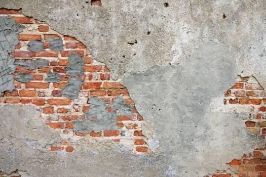Brick Wall Sidewalk Free Photo