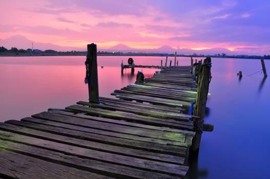 Dock sky water landscape #31927