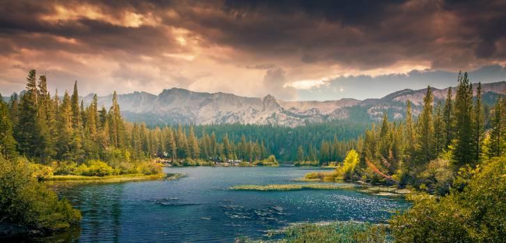 Landscape mountains nature clouds #31928