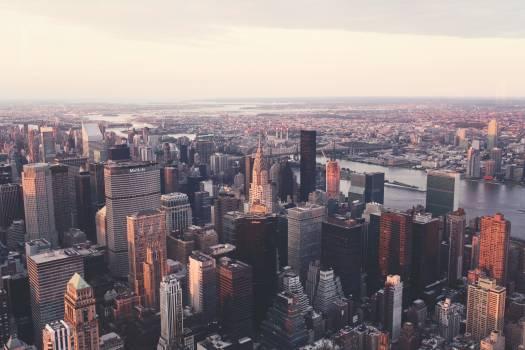 City skyline skyscrapers top #31942
