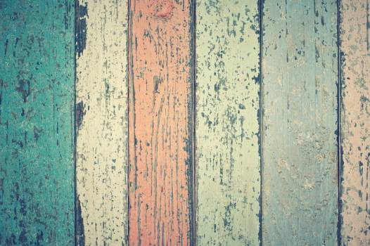 White Green and Orange Wooden Plank #32043