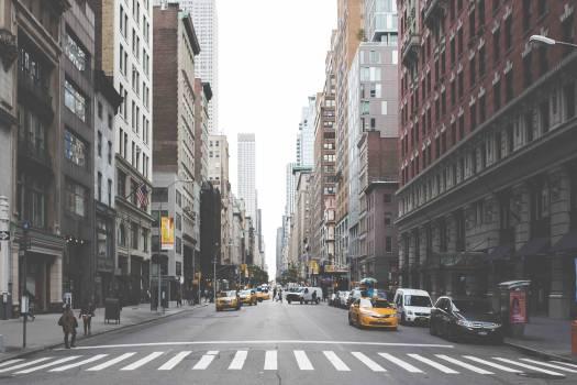 New york city city street cars Free Photo