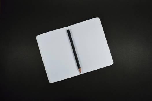 Black Pencil on White Paper #32084