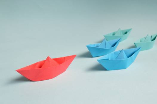 Paper Boats on Solid Surface #32123