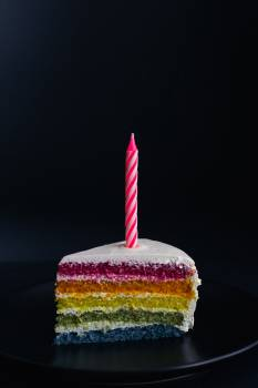 Food Candle Cake Free Photo