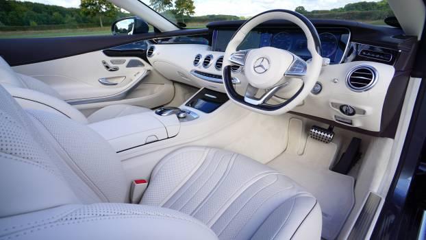 White Mercedes Benz Interior Design #32407