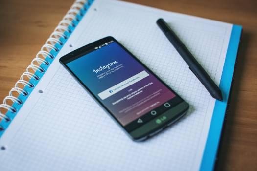 Lg smartphone instagram social media Free Photo