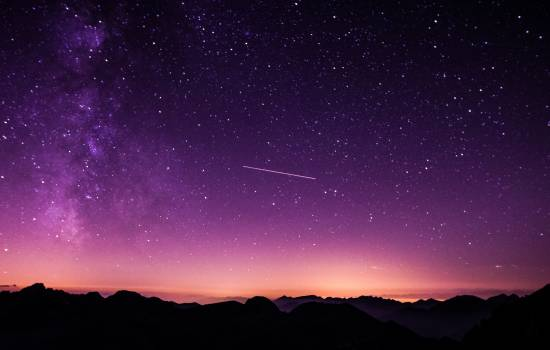 Shooting Star during Nighttime With Purple Sky #32606