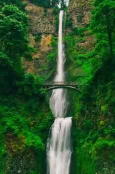 Bridge Near Waterfall #326490