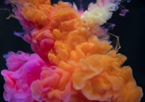 Orange, White, and Pink Smoke Digital Wallpaper #326503