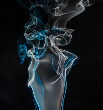 Blue and White Smoke Digital Wallpaper Free Photo