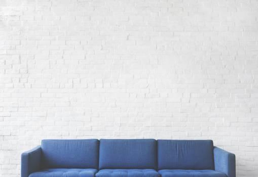 Blue Fabric 3-seat Sofa #326791