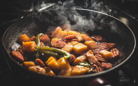 Vegetable Food Cooked on Frying Pan #32705