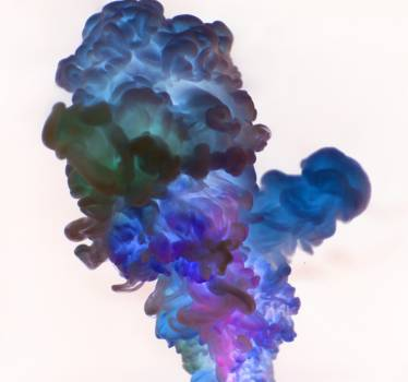 Close-Up Photography of Blue and Green Smoke Free Photo
