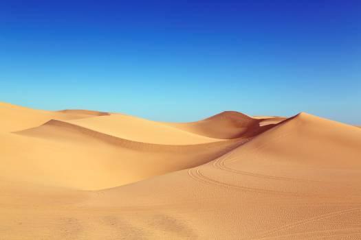 Desert Under Blue Sky Free Photo