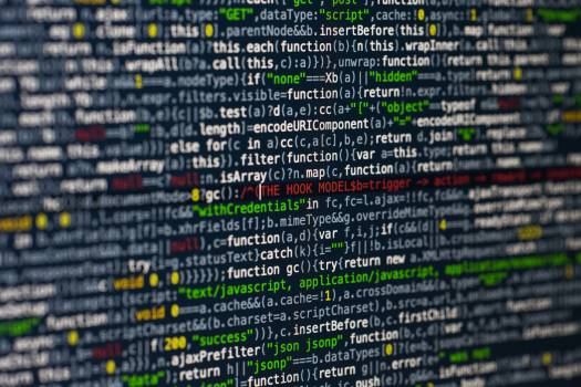 Programming code abstract screen of software developer Free Photo