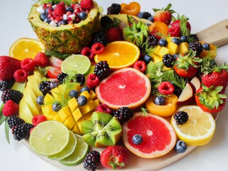 Sliced Fruits on Tray #327655