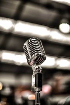 Silver-colored Microphone Free Photo