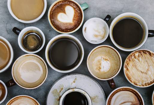 Top View Photo of Ceramic Mugs Filled With Coffees #328048