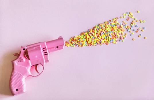 Pink Revolver Gun Free Photo