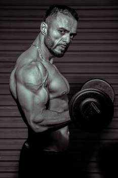 Person Lifting Dumbbell Free Photo