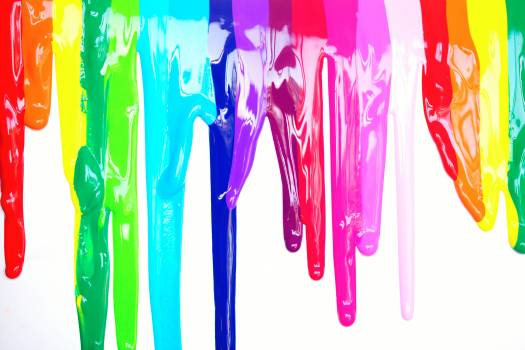 Multicolored Paint Drippings Free Photo
