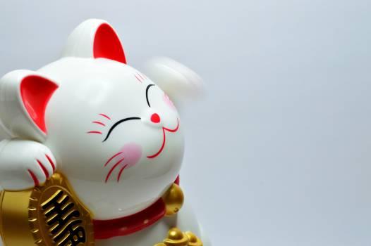 Japanese Lucky Coin Cat #329560