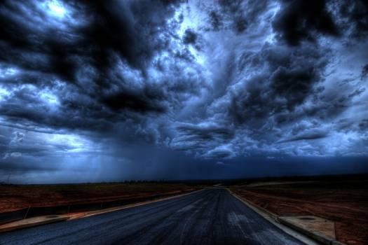 Asphalt Road Under Gray Clouds Free Photo