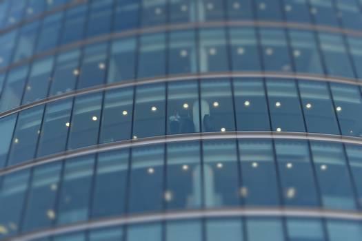 Green Tinted Window Glass Panel Free Photo