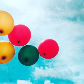 Five Assorted Balloons Free Photo