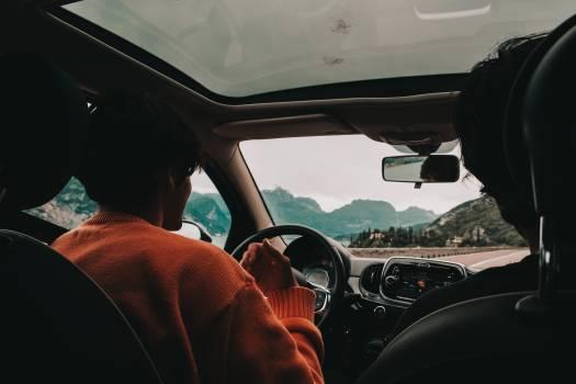 Woman Inside Vehicle Free Photo