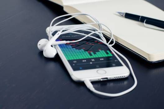 Iphone smartphone technology music Free Photo