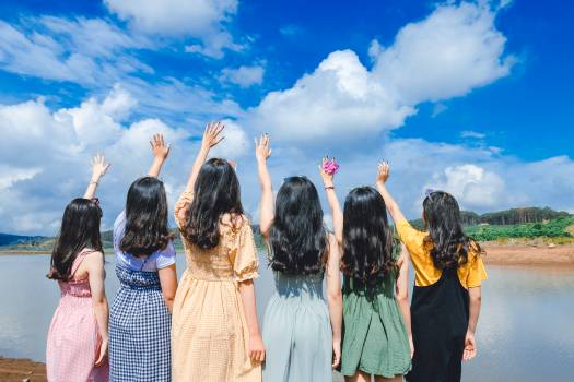 Women Standing Near River Free Photo