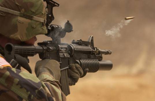 Soldier Holding Rifle #332362