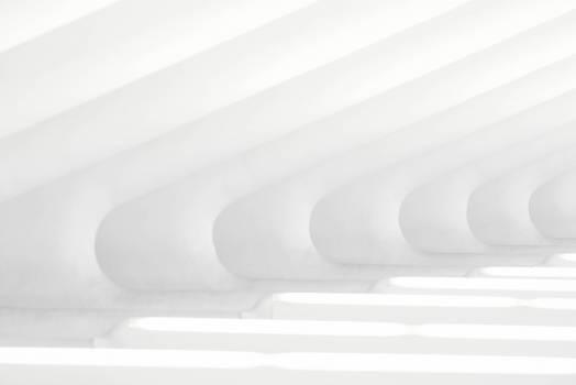 Modern Art Painting In White Free Photo