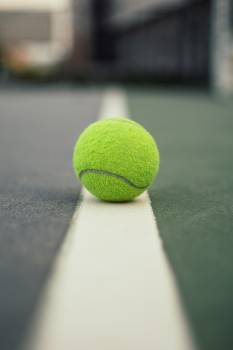 Green Tennis Ball on Court #332605