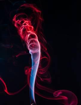 Red Smoke Illustration Free Photo