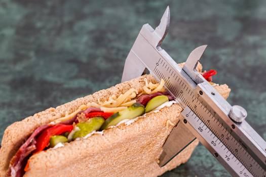 Grey Measuring Device on Brown Sandwich #332829