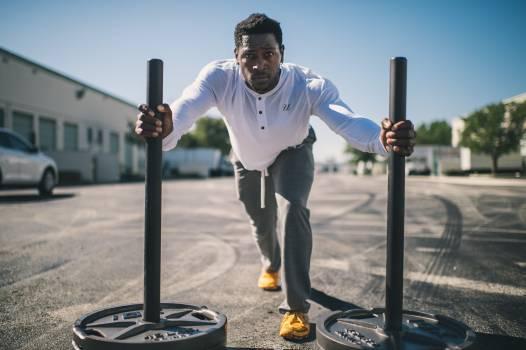 Man athlete sport weights #33303