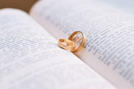 Love rings wedding bible #33312