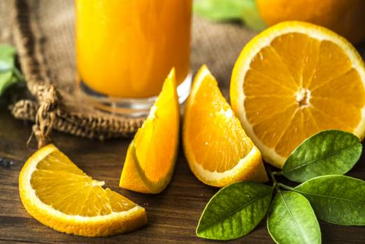 Orange Fruits on Brown Wooden Surface #333454