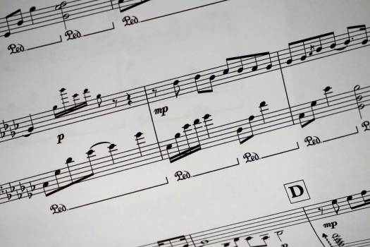 Sheet Music Showing Musical Notes Free Photo