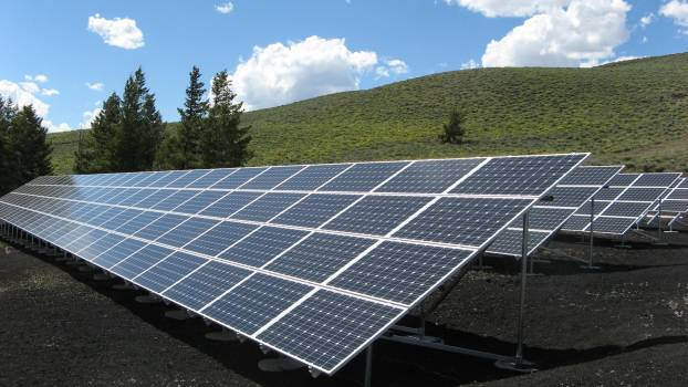 Black and Silver Solar Panels #33357