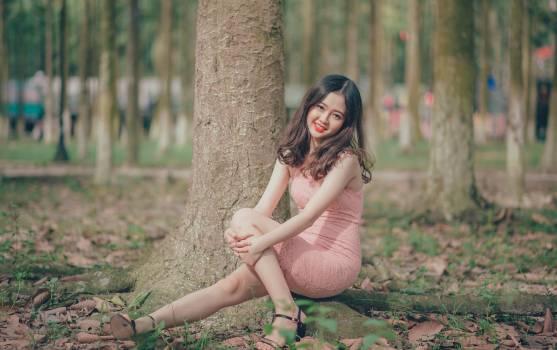 Woman Wearing Pink Sleeveless Dress #333669