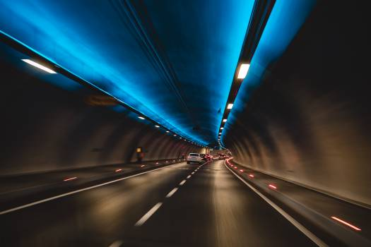 Timelapse Photography of Cars in Tunnel Free Photo